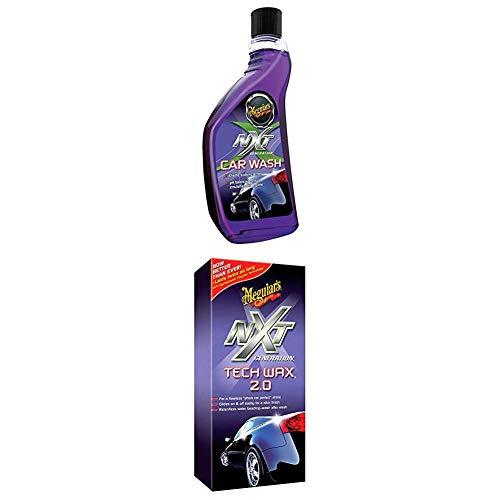 Meguiar's G12619EU NXT Car Wash Autoshampoo + G12718EU NXT Tech Wax 2.0 Autowachs