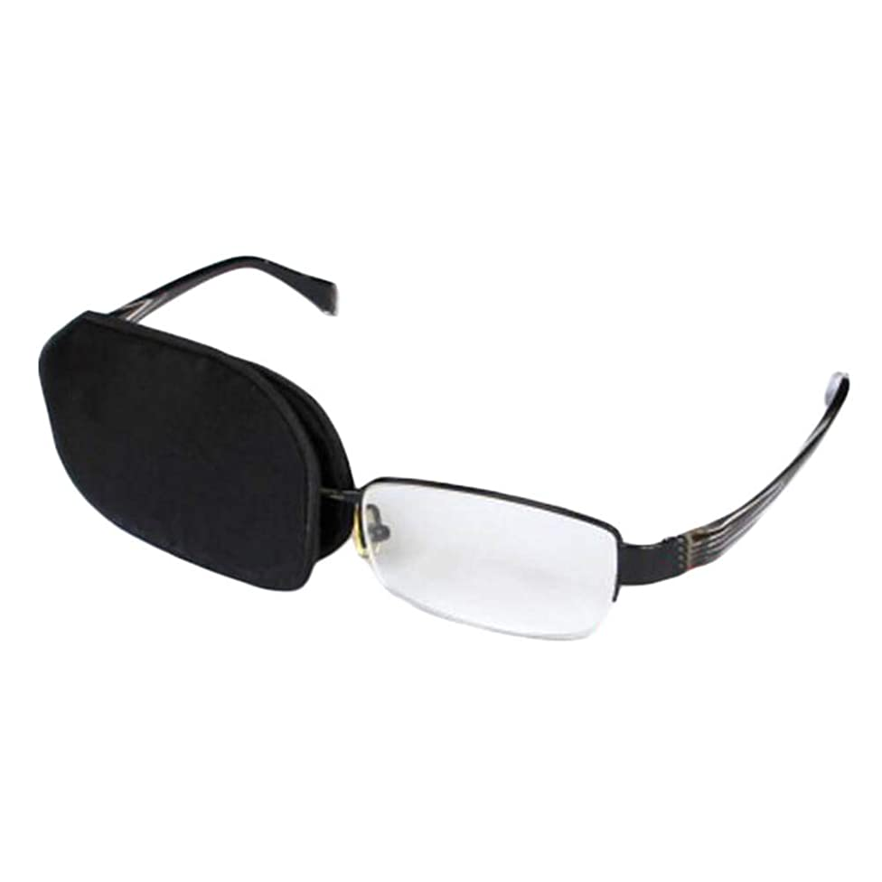 Adult/Kids Silk Glasses Eye Mask Amblyopia Strabismus Lazy Eye Patches Treat Lazy Eye and Strabismus(Black)