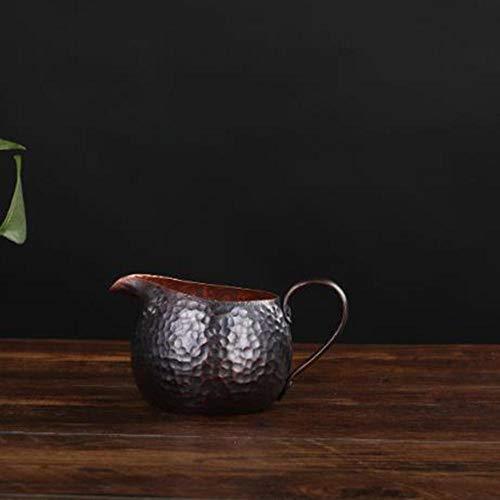 Eiserne Teekanne Manuelle rote Kupfer Teekanne Seitengriff verdickte Kupfer Topf Stil Gießen Teekanne Teetasse antike Tee-Set-Hammermuster Tasse