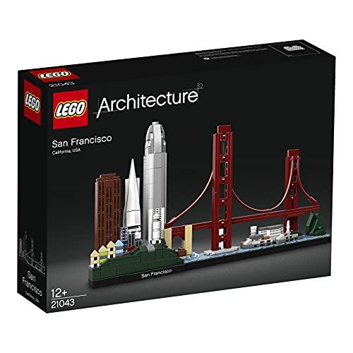LEGO21043ArchitectureSkylineCollectionSanFrancisco,SetdeConstrucción,ModelodeColeccionista,MaquetaDecorativa