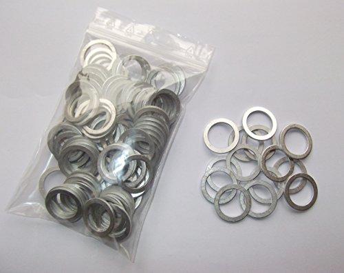 100 Stück Aluminiumringe/Dichtringe/Dichtung Alu 14x24x1,5 mm DIN 7603