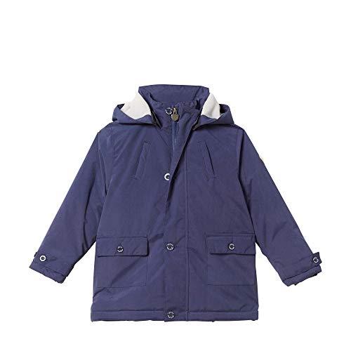 Steiff Jungen Jacke Parka , Blau (PATRIOT BLUE 6033) , 116 (Herstellergröße:116)