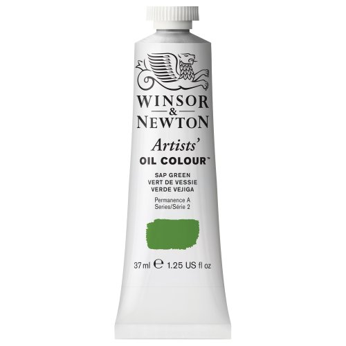 Winsor & Newton 1214599 Artists' Oil Color Paint, 37-ml Tube, Sap Green