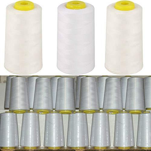Drei Spulen Cone Fadenhalter Stand für Universal Nähmaschine Serger Weiß