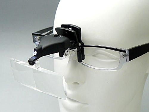 Lentes DE Aumento Intercambiables para Gafas con LUZ LED Y Pinza DE SUJECCION