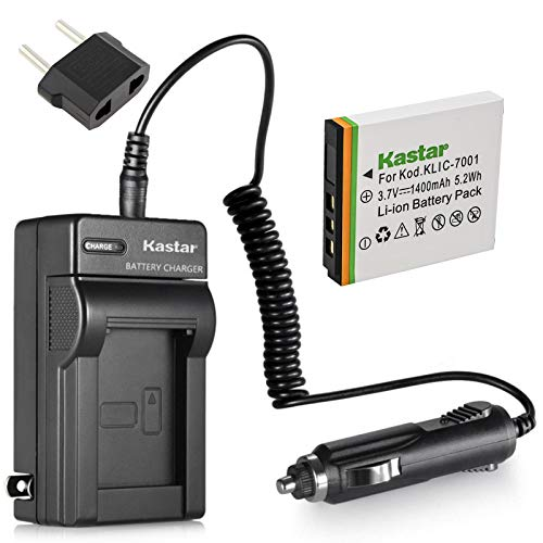 Kastar Battery (1-Pack) and Charger Kit for Kodak KLIC-7001 and Kodak EasyShare M320, M340, M341, M753 Zoom, M763, M853 Zoom, M863, M893 is, M1063, M1073 is, V550, V570, V610, V705, V750 Cameras
