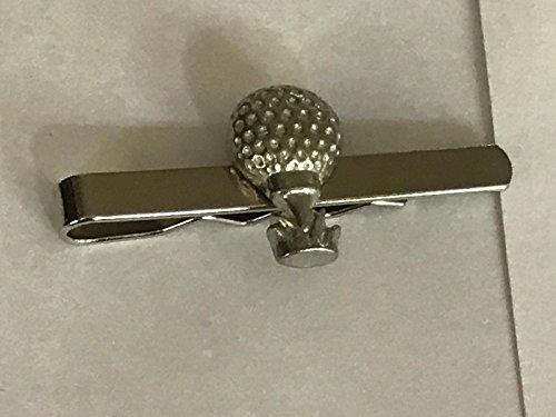 Giftsforall TG10 Krawattenklammer mit Golfball-Motiv, aus feinem englischen Zinn