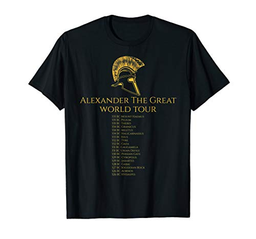 Classical Greek History - Alexander The Great World Tour T-Shirt
