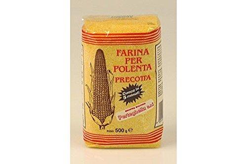 Molino S.Caterina - Polenta - Harina de Maiz Precocida - Hecha en 5 Minutos - Producto Italiano - 500 Gramos