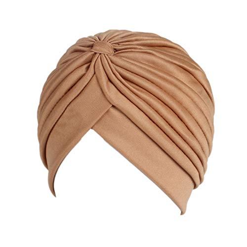JOMSK Gorra de Sombrero Turbante 5pcs Damas 5pcs Damas Primavera y otoño Turbante Sombrero Primavera y otoño Turbante Sombrero (Color : N, Size : One Size)