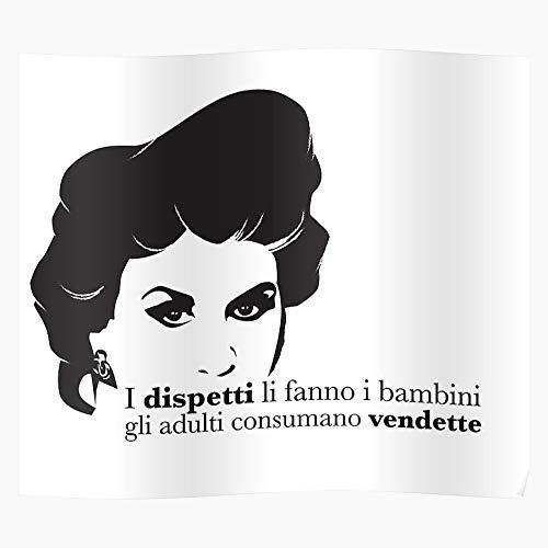 US201PT Franca Dixit Leosini Ipse Italian Culture Pop for Home Decor Wall Art Print Poster