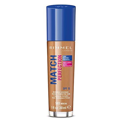 Rimmel Match Perfection Foundation, Fondotinta Liquido Pelle Perfetta e Levigata a Lunga Tenuta con SPF 20, 303 True Nude, 30 ml