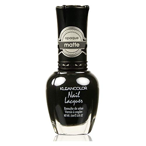 Kleancolor Nail Polish # 265 Madly Black Nail Lacquer Matte Opaque