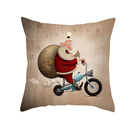 Christmas new peach skin pillowcase cartoon printing square pillowcase home cushion cover