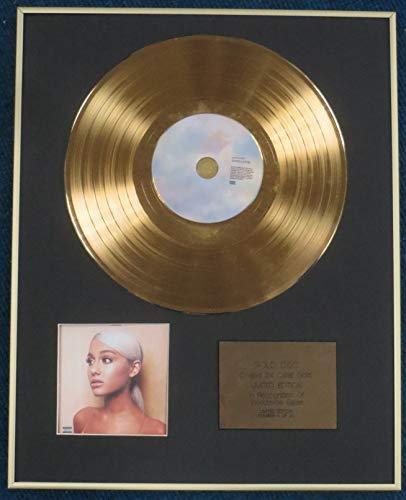 Century presentazioni–Ariana grandi–Limited Edition CD disco rivestito in oro 24carati LP–dolcificante