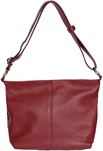 BDFA Woman Leather Bag Bandolera |Bolso de Cuero, Rojo