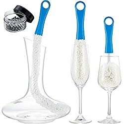 3 Piece Wine Decanter Cleaning Brush Set
