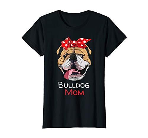 Damen Englische Bulldogge Hunde Mama Mom T-Shirt