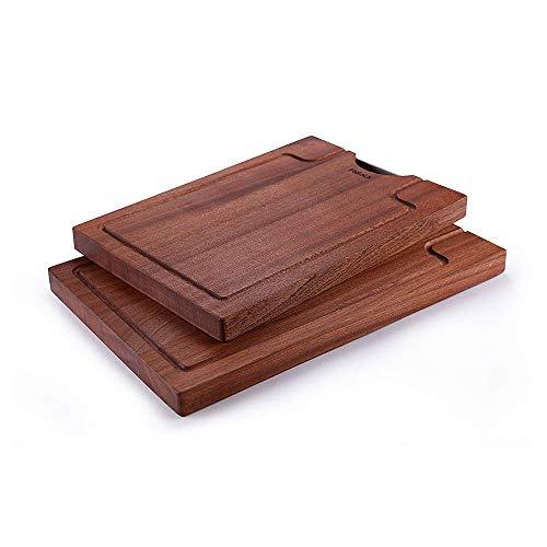 Veiligheid Grote houten snijplank met Juice Groove, Cutting Boardndash; Hout Dienblad for het hakken met vlees-, groente Kaas gift dsnmm (Size : 45 * 30cm)