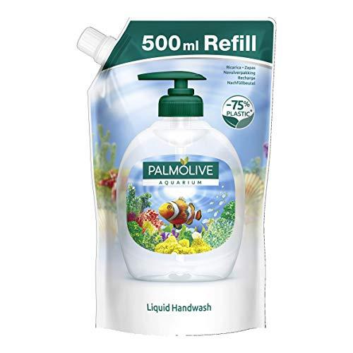 Palmolive Flüssigseife Nachfüllbeutel Aquarium, 1 x 500 ml - milde Seife zur sanften Reinigung der Hände, dermatologisch getestet