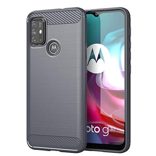TingYR Hülle für Motorola Moto G30, Ultra Thin Silikon hülle Abdeckung Handy Hülle Stoßfest Hülle Schutzhülle, Handyhülle für Motorola Moto G30 Smartphone.(Grau)