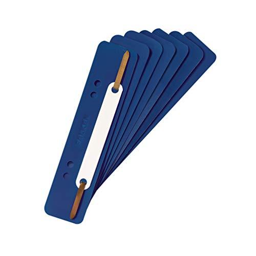 Original Falken 250er Pack Plastik-Heftstreifen Blau. Aus PP-Folie kaufmännische Heftung Aktendulli Hefter Schnellhefter ideal für Büro und Schule