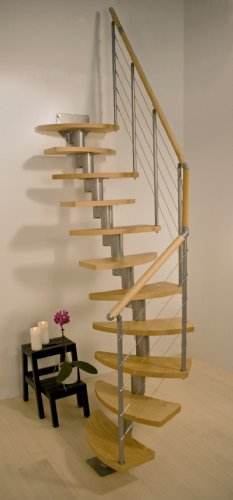 Dolle - Escalera modular en espiral para ahorrar espacio, diseño de Rome