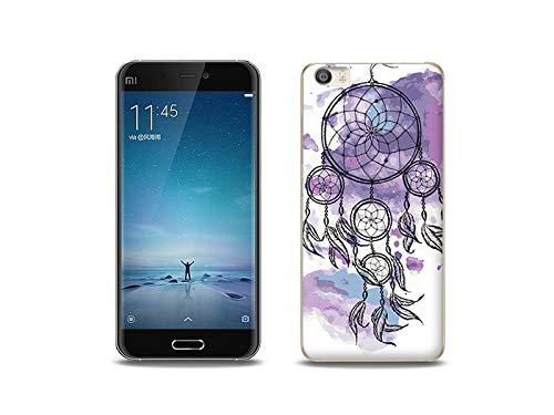 etuo Handyhülle für Xiaomi Mi5 - Hülle, Silikon, Gummi Schutzhülle - Violetter Traumfänger