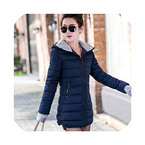 Vrouwen Winterjas Hooded Warm Plus Size Down Katoen Jas Vrouw