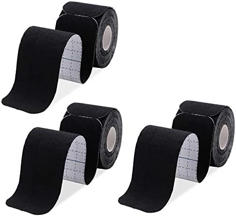Kinesiology Tape Precut 3 Rolls Athletic Sports Tape for Muscle Joints Physical Therapy Tape product image