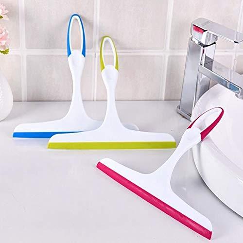 Ltjqsm Limpiador de Vidrio Limpiador Limpiador de jabón Squeebado Ducha Capelado Cepillo de Limpieza (Color : Blue)