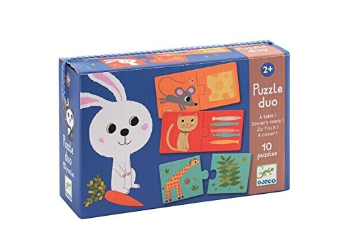 Djeco Dinner's Ready! Duo Puzzle (10 Puzzles/20 Pieces) by