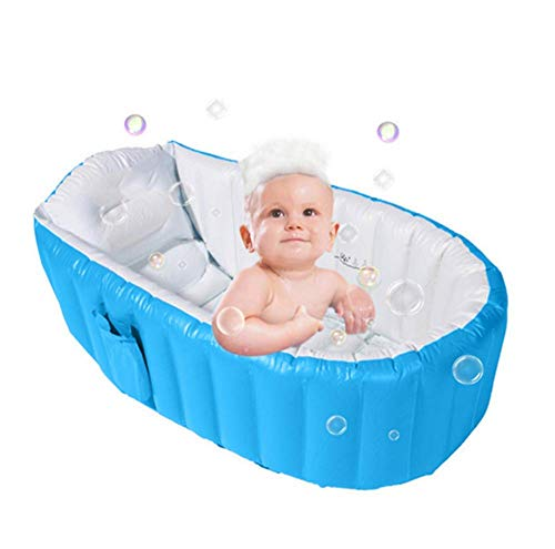 Alytimes Aufblasbare Babybadewanne, Keine Pump Kid Infant Kleinkind Infant Newborn Inflatable Foldable Shower Pool (Blau)