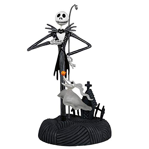Hallmark Keepsake Ornament 2020, Disney Tim Burton's The Nightmare Before Christmas Collection Jack Skellington Storytellers With Light and Sound
