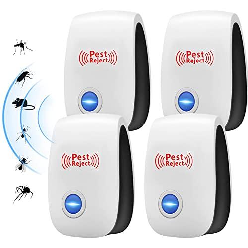 Ultraschall Schädlingsbekämpfer, Elektronische Insektenschutzmittel & Innenräumen Pest Control Repeller, Mäuseabwehr Ultraschall, Plug-In Mäusevertreiber für Kakerlaken, Mäuse, Fliegen,Mücken, Spinnen