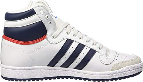 adidas Herren Ten Hi High-Top, Weiß (Neo White S08/New Navy Ftw/Collegiate Red), 44 EU