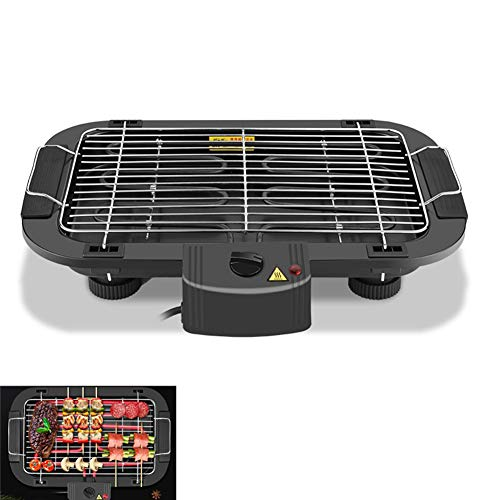 Elektrische Barbecue Grill, 2000W High Power Smokefree Table BBQ Grillen, Bakplaat met 5 niveaus van Temperature Adjustment, Home Indoor Outdoor Dinner,A
