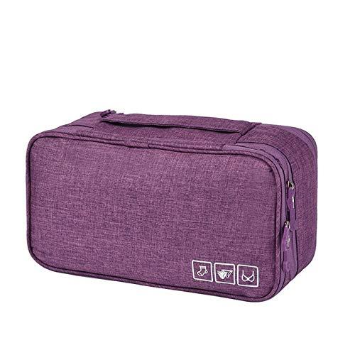 CDYEGSJ Las Mujeres de Maquillaje Bolsa Kits de Belleza cosmética Maletas Neceser de Viaje Paquete Sujetador de la Ropa Interior Sujetador Bolsa de Almacenamiento (Color : Purple)