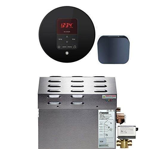 Review Of Mr Steam - Steam Bath Generator Package in Round Black Finish with Automatic Flush Valve a...