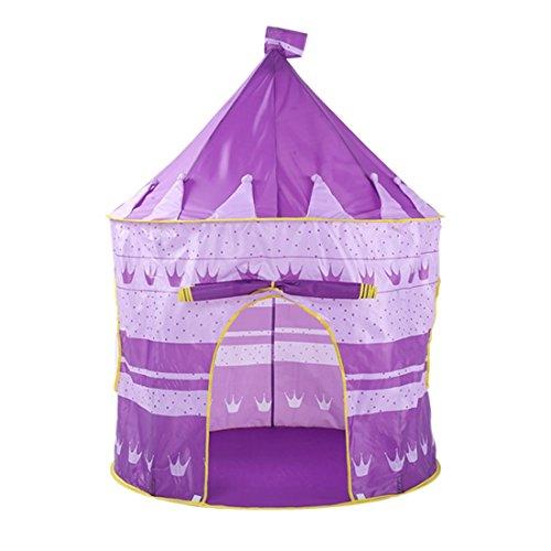 WEATLY Kinder Schloss Spiel Zelt Spiel Haus mongolische Yurts Tipi Zelt (Farbe : Lila)