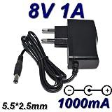 TOP CHARGEUR * Netzteil Netzadapter Ladekabel Ladegerät Output Ausgang DC 8V 1A 1000mA 8W CE Zertifizierung Stecker: 5.5mm * 2.5mm ersetzt 8V 500mA / 750mA / 800mA / 0.5A / 0.75A / 0.8A / 1A