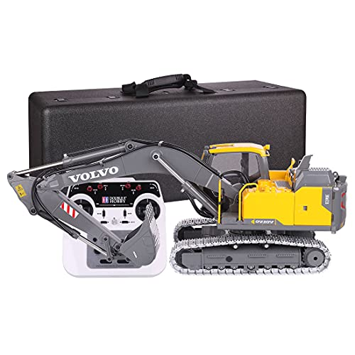 Gedar Ferngesteuert Bagger Erwachsene, Elektrozylinder Version RTR Kit, 1:14 2.4 GHz RC Bagger Metall Ferngesteuert, Luxuriöses Geschenk