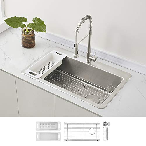 Double Bowl Offset Stainless Steel Topmount Kitchen Sink