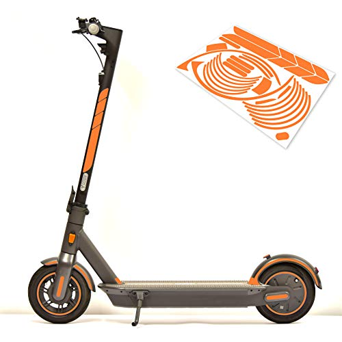 m2medien – Juego de pegatinas (30 piezas) de 35 x 24 cm, apto para Segway Ninebot Max G30 E-Scooter – ¡Atención solo para G30!, naranja fluorescente
