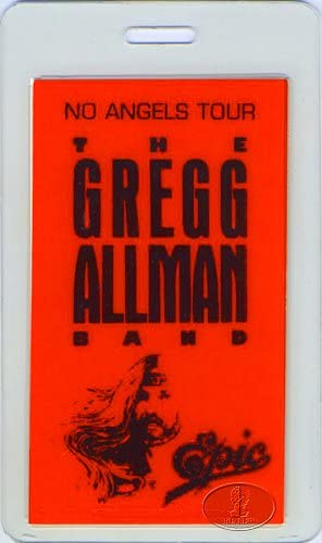 Gregg Special sale item Allman 1987 Backstage Pass Mesa Mall Laminated