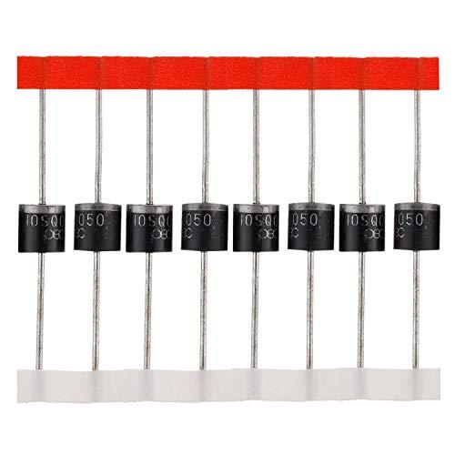 BOJACK Schottky Diode 10SQ050 (10A 50V) axial 10SQ050 (10 Ampere 50 Volt) für Solarpanel Parallel Reflow-Schutzdioden (Packung mit 20 Stück)