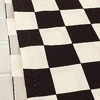 市松模様 生地 (ブラック) 和柄 チェック柄 ツイル 市松格子 3.5cm角 布地 手芸 伝統柄【1m単位】