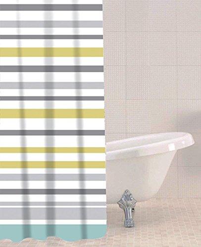 Sabichi Ocean Stripe PEVA Shower Curtain by Sabichi