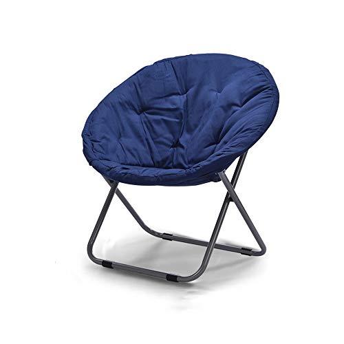 YQQ Chaise Pliante Intérieur Chaise Longue Tabouret De Canapé Acier Toile 50 * 82CM (Couleur : Bleu)