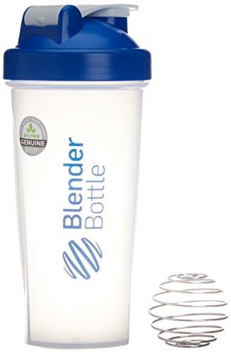 Blender Botte Classic - Protéine Shaker / Bouteille d'eau Bleu Transparent 820 ml